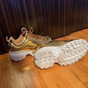 Fila disruptor gold sneakers